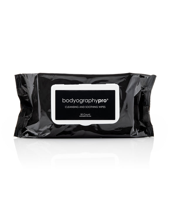 Cleansing & Soothing Wipes Standard Size 50 count - Bodyography Professional Cosmetics