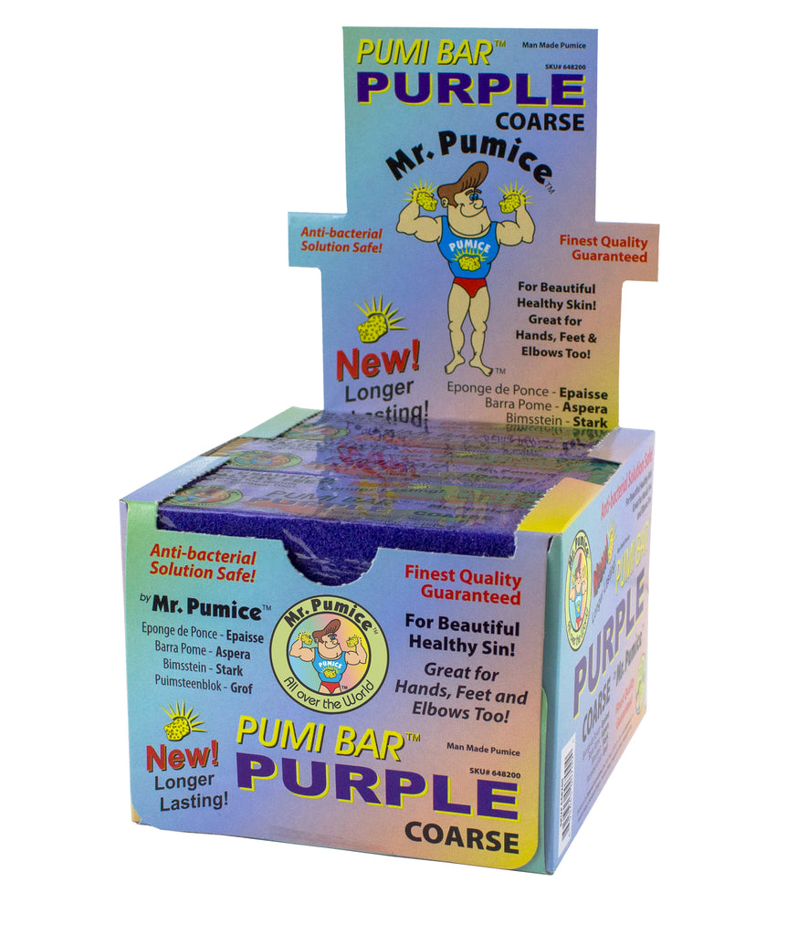 Mr. Pumice - Purple Pumi Bar Display