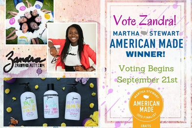 VOTE ZANDRA IN MARTHA STEWART AMERICAN MADE AWARDS