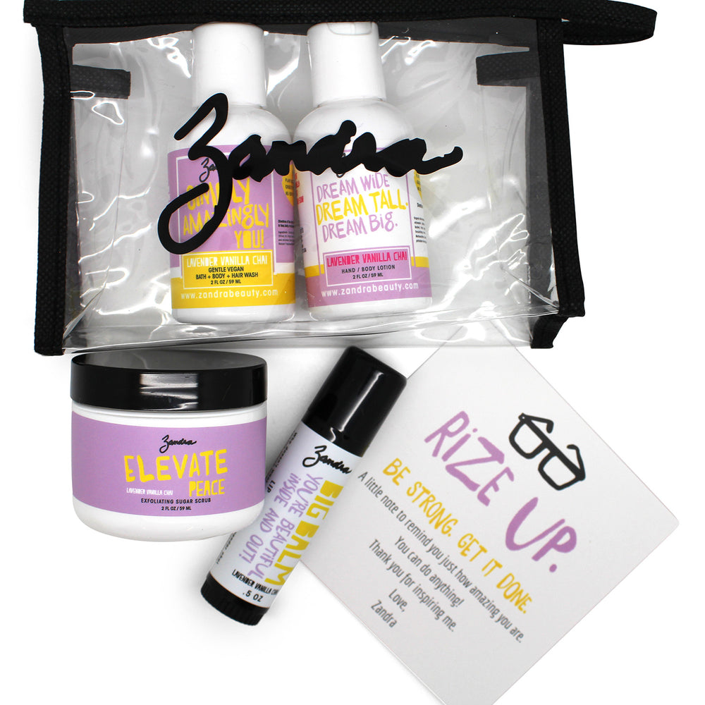 Lavender Vanilla Chai GO GIRL TRAVEL KIT - Zandra