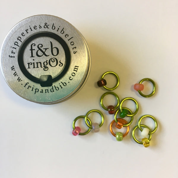 Fripperies & Bibelots ringOs Snag Free Stitch Markers (Exclusive Shephardess colourway)