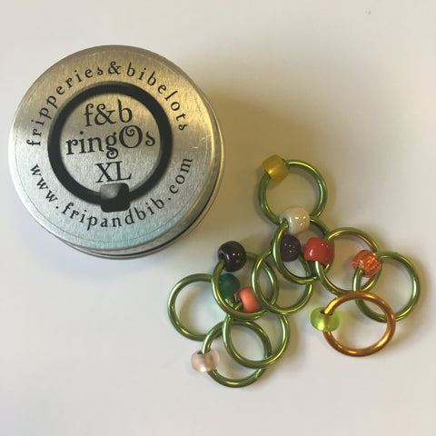 Fripperies & Bibelots ringO XL Snag Free Stitch Markers (Exclusive Shephardess colourway)
