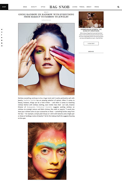 Going Rainbow on Rainbow with Everything from Makeup to Fashion to Jewelry