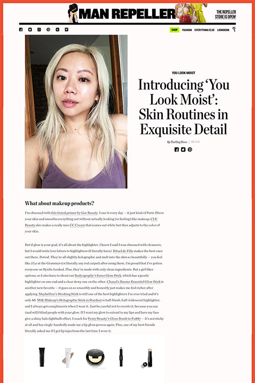 Introducing 'You Look Moist': Skin Routines in Exquisite Detail