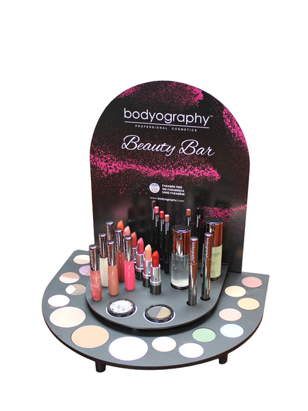 Beauty Bar Display - Bodyography® Professional Cosmetics