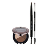 Bodyography All-In-One Brow Shaping Set, Medium/Dark - Essential Brow Trio, Brow Assist in Brown, Brow Brush
