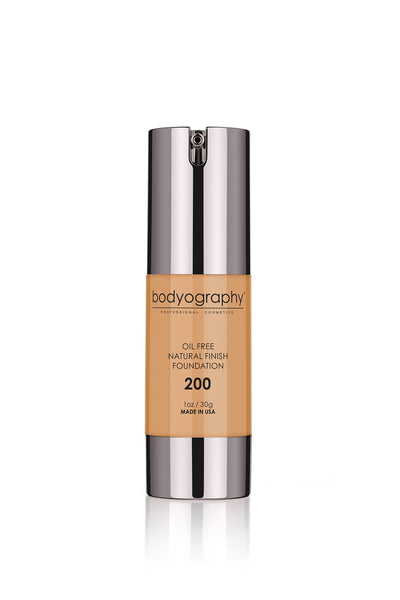 Bodyography Natural Finish Foundation - #200 Med/Dark/Warm