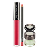 Bodyography Perfect Pout Set, Regal + Crimson - Lip Lava Liquid Lipstick in Regal, Lip Pencil in Crimson, Exfoliating Lip Duo
