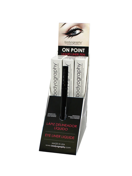 On Point Liquid Liner Pen Display - Bodyography® Professional Cosmetics