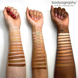 Pro Perfect Foundation Stick Arm Swatches - Bodyography® Professional Cosmetics