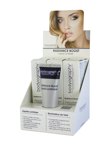 Radiance Boost Liquid Luminizer Display - Bodyography® Professional Cosmetics