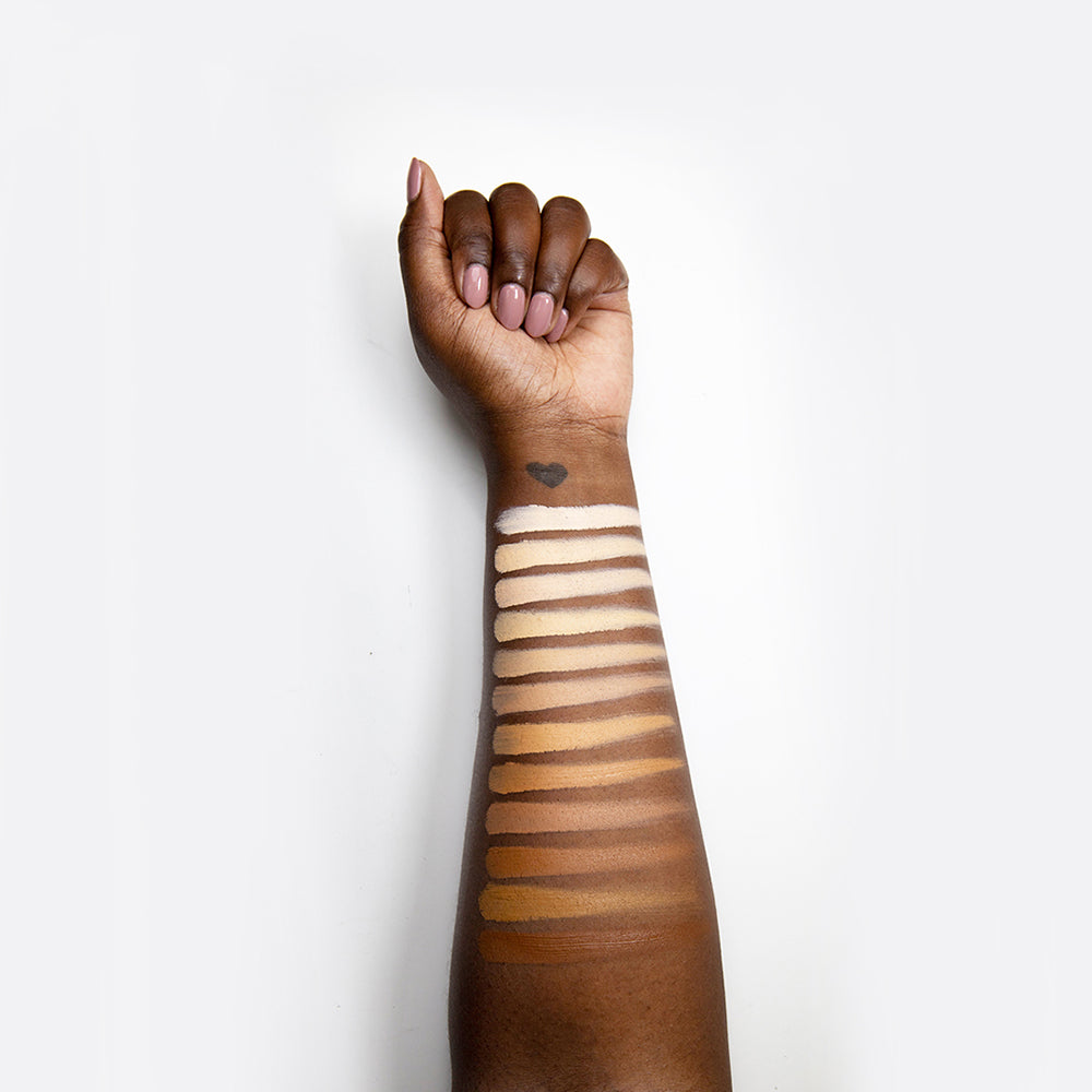 Pro Perfect Foundation Stick Deep Arm Swatches - Bodyography® Professional Cosmetics