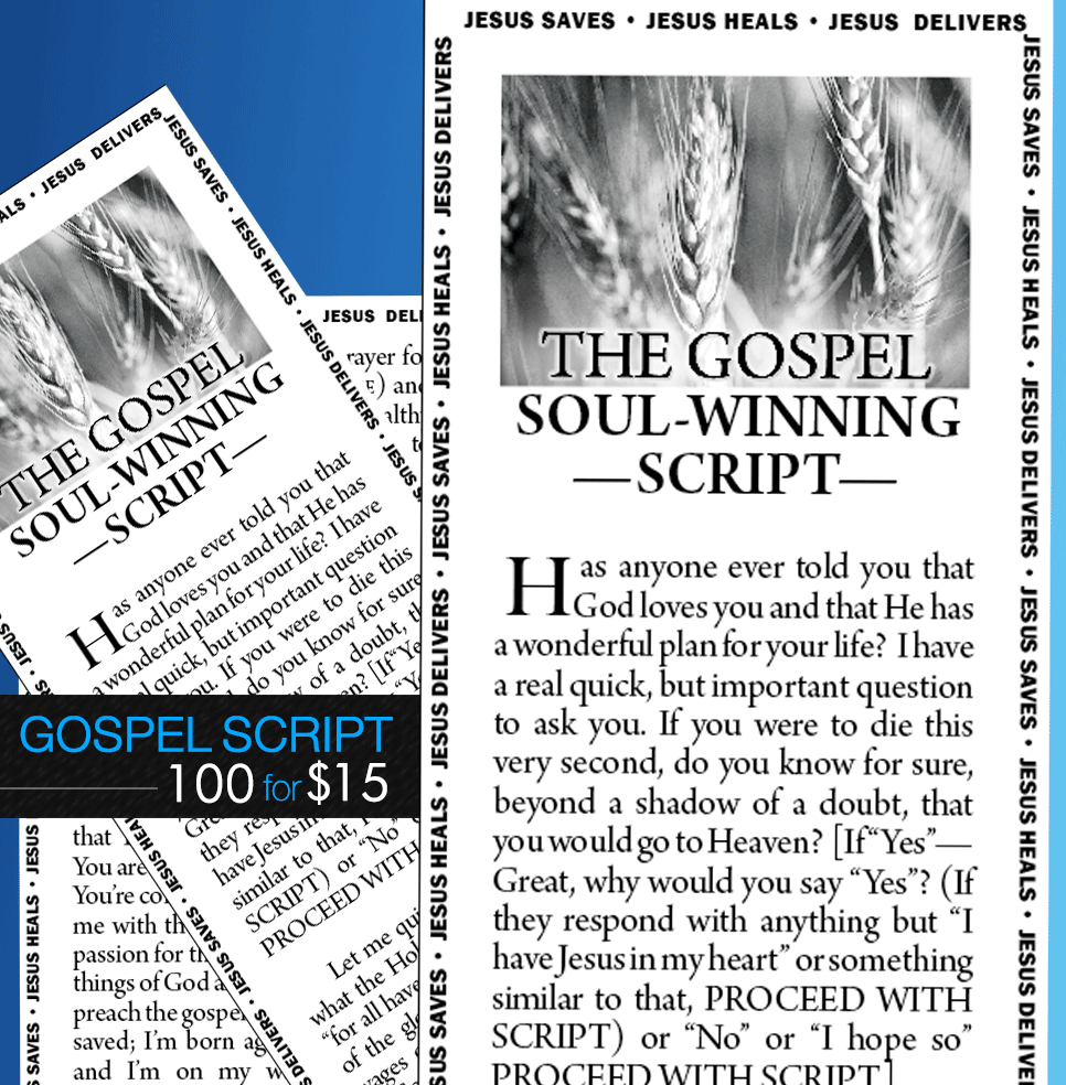 Gospel Soulwinning Scripts - 100 English