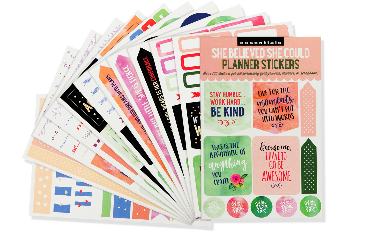 Essentials She Believed She Could Planner Stickers