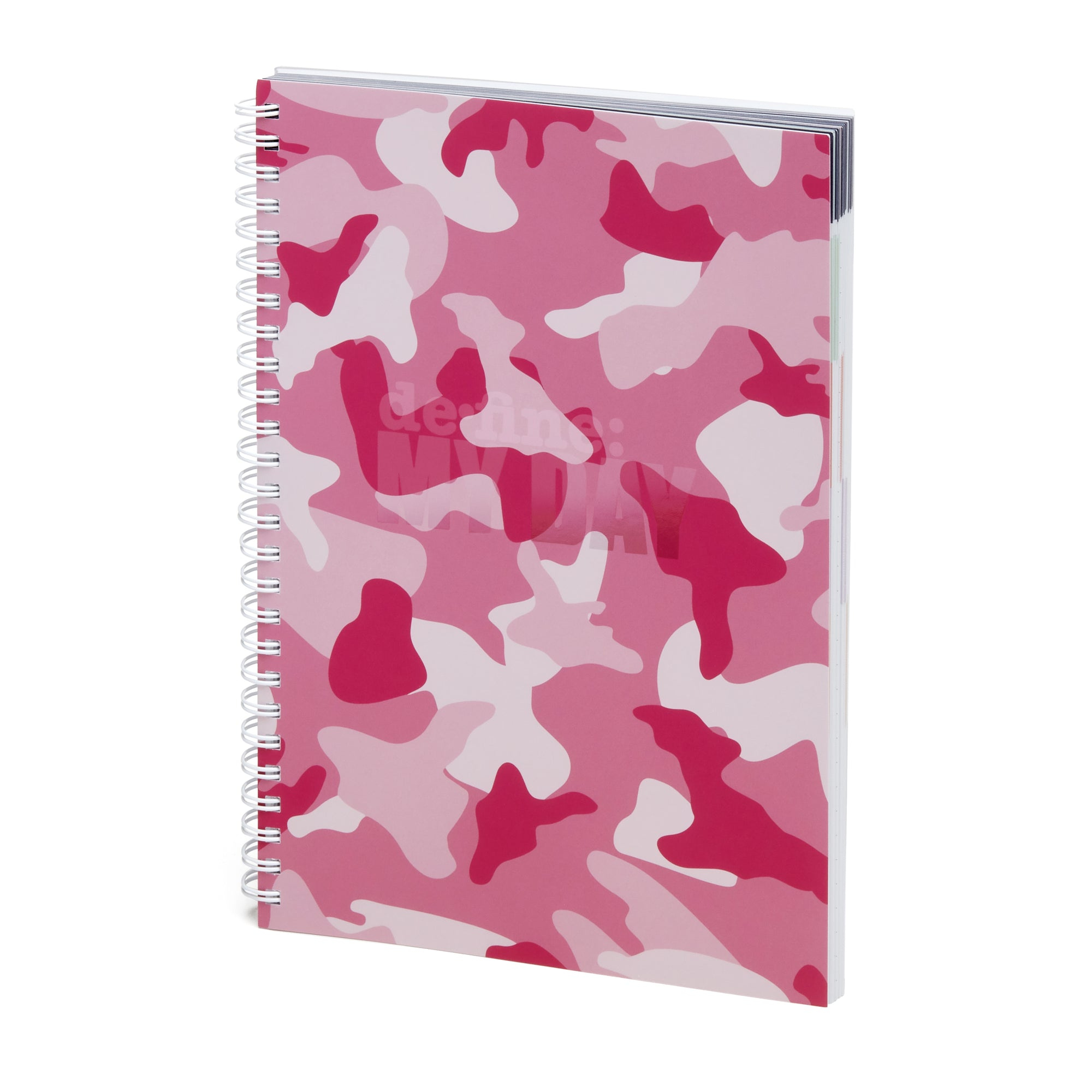 Define My Day™ Planner & Journal Pink Camo Cover