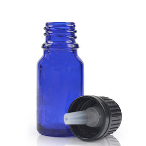 10mL Blue Glass Bottle with Tamper Evident Dropper Top