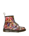 DR MARTENS 1460 CBGB PRINTED LEATHER LACE UP BOOTS MENS