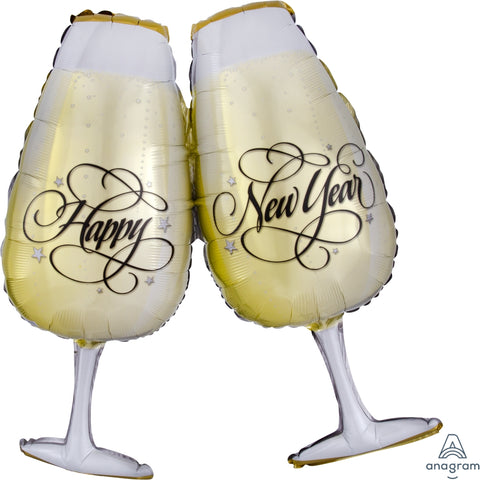 New Years Toasting Glasses 30""