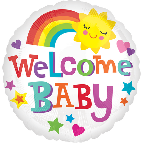 Welcome Baby Bright & Bold 18""