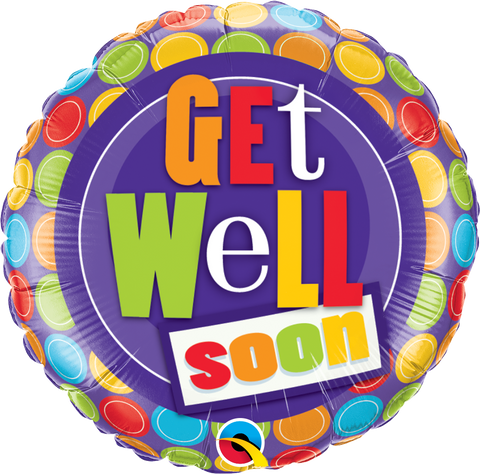 Get Well Soon Dots 18""