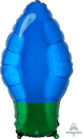 Blue Christmas Light Bulb 22""