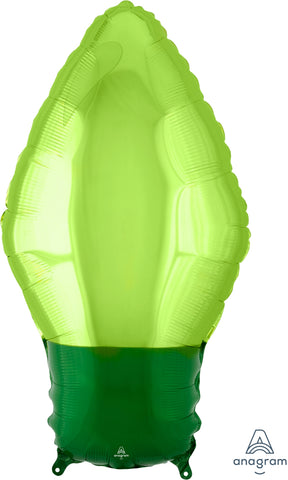 Green Christmas Light Bulb 22""