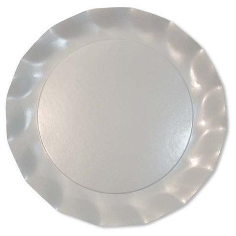 Pearly White Charger Plates