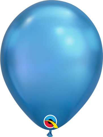 "Chrome balloons 11"" (100pz) Blue"
