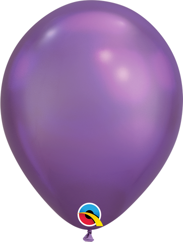 "Chrome balloons 11"" (100pz) Purple"