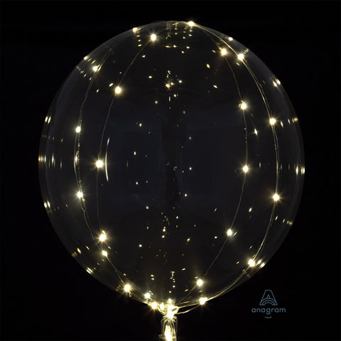 Crystal Clearz Balloon White Lights 24""