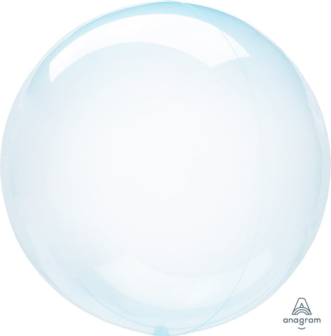 Crystal Clearz Balloon Blue 24""