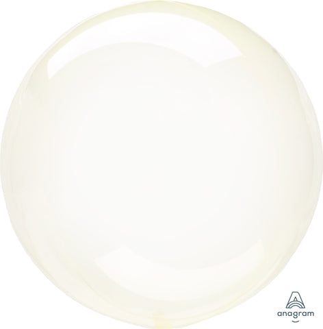 Crystal Clearz Balloon Yellow 24""
