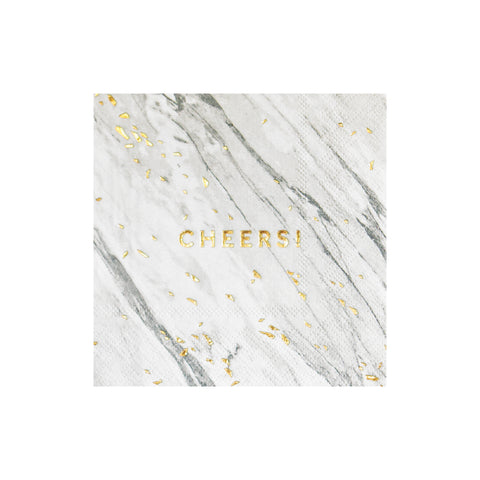 Marble Cheers Cocktail Napkins