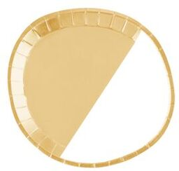 GOLD SALAD PLATES 8PC