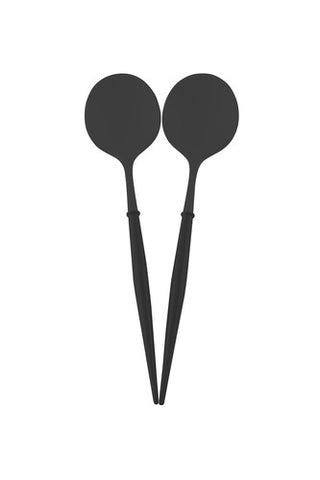 BLACK AND BLACK BELLA 2PC SERVING SPOON