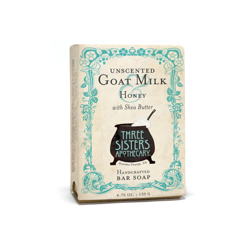 Unscented Goat Milk & Honey Bar Soap 4.75 oz
