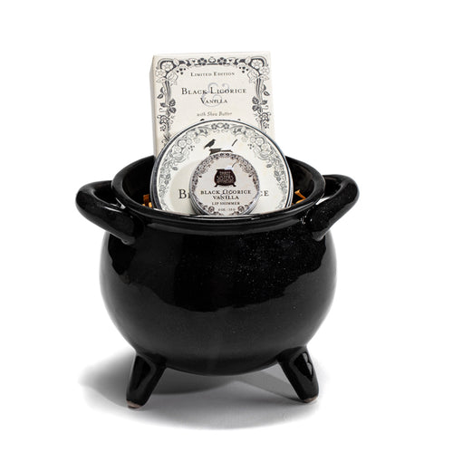 "Ceramic Gift Cauldron - 5"" Diameter"