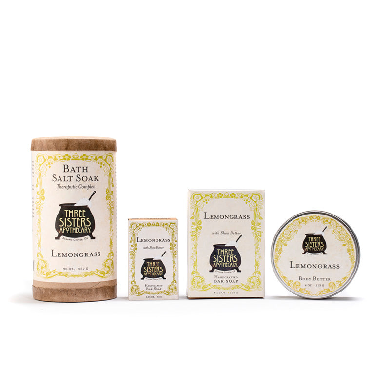 Lemongrass Bath Salt Soak -  20 oz.