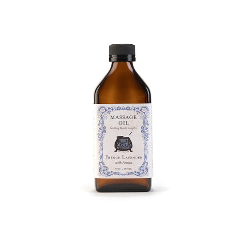 French Lavender Massage Oil 8 oz. -Soothing Muscle Complex