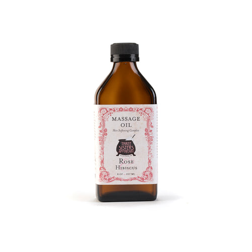 Rose & Hibiscus Soothing Massage Oil 8 oz. - Skin Softening Complex