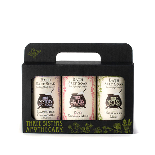 Bath Salt Gift Tote Trio