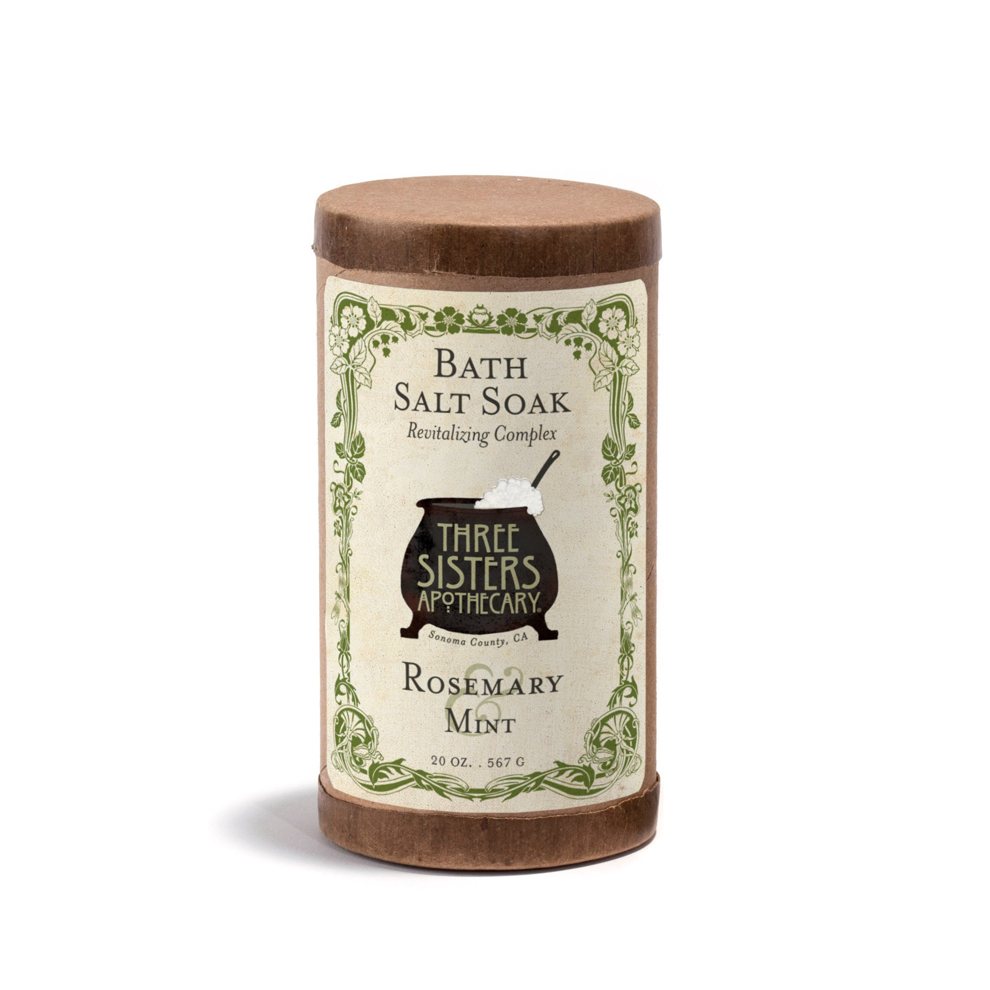 Rosemary & Mint Bath Salt Soak - 20 oz