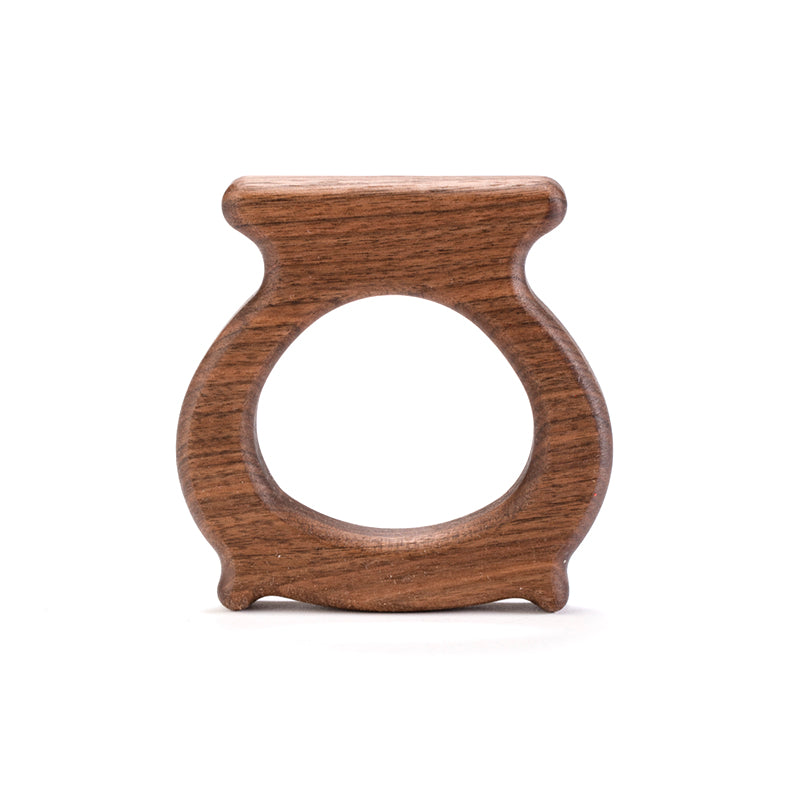 Wooden Cauldron Teether - Natural Baby Gift