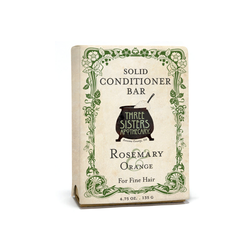 Rosemary & Orange Solid Conditioner Bar- Fine Hair Complex