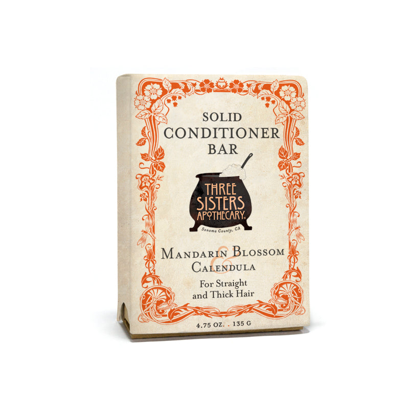 Mandarin Blossom Solid Conditioner Bar - Sleek & Smooth Complex