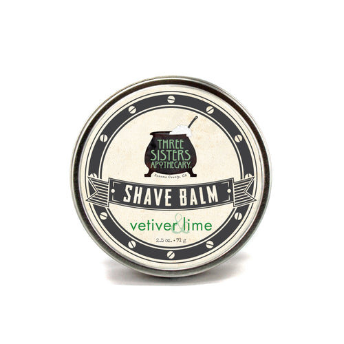 Vetiver & Lime Shave Balm 2.5 oz.