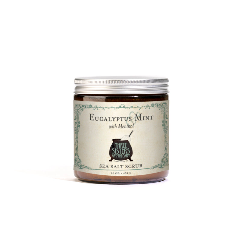 Eucalyptus & Mint Sea Salt Scrub  - 16 oz.