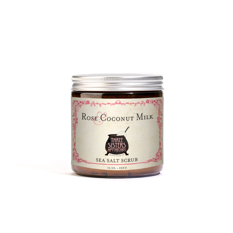 Rose & Coconut Sea Salt Scrub  - 16 oz.