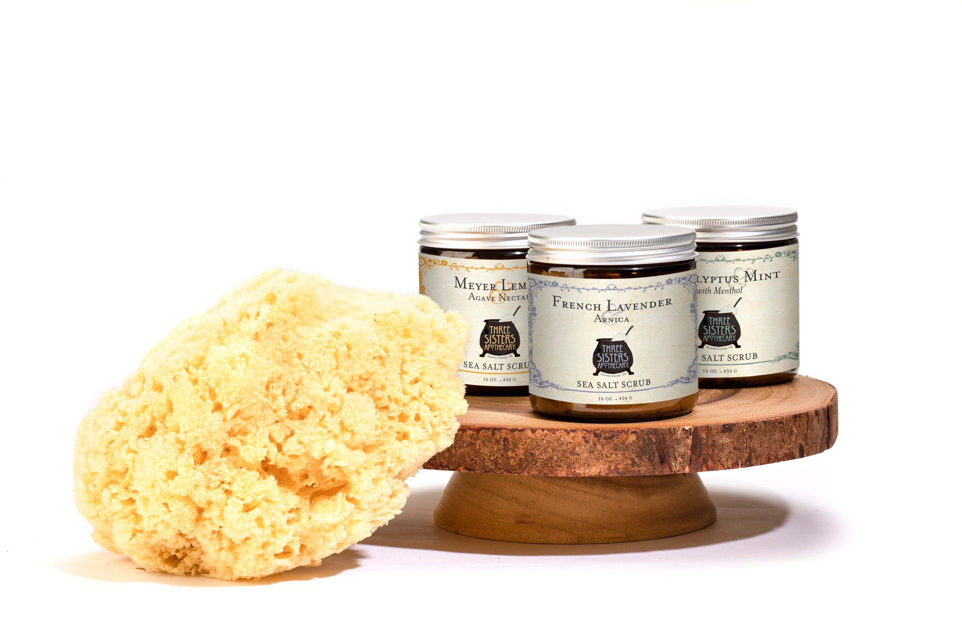 Meyer Lemon Sea Salt Scrub  - 16 oz.