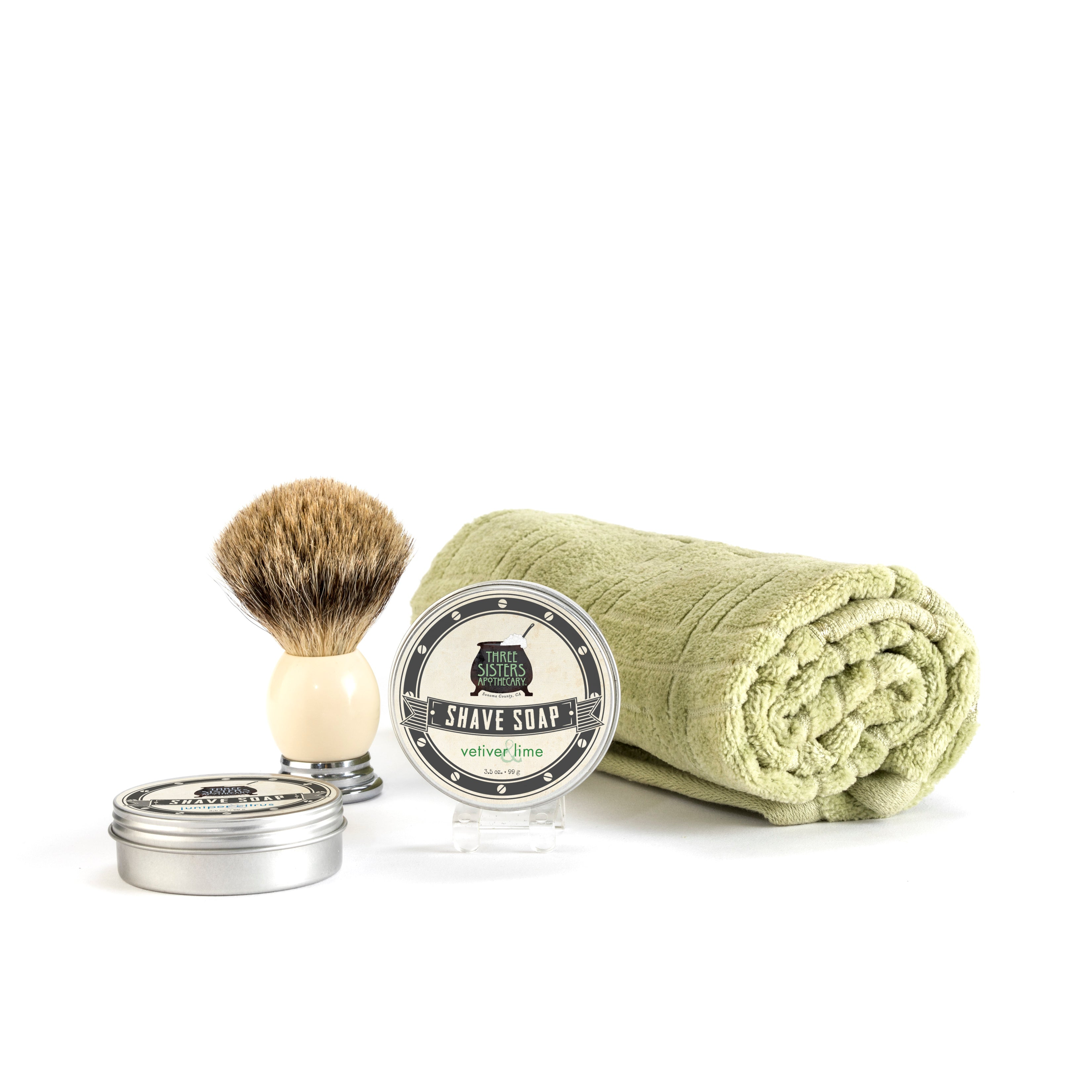 Vetiver & Lime Shave Soap 3.5 oz.